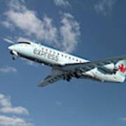 Air Canada Express Bombardier Crj-200er Poster