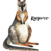 Australian Animals Watercolor Poster