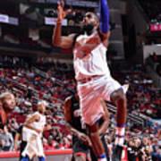 New York Knicks V Houston Rockets Poster