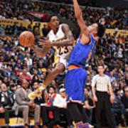 New York Knicks V Los Angeles Lakers Poster