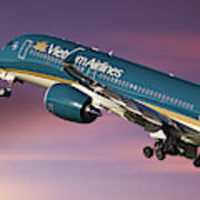 Vietnam Airlines Airbus A350 Poster