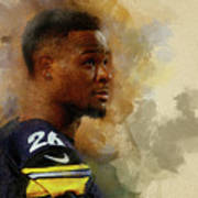 Le'veon Bell.pittsburgh Steelers. Poster