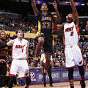 Miami Heat V Los Angeles Lakers Poster