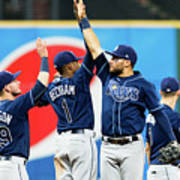 Tampa Bay Rays V Cleveland Indians Poster