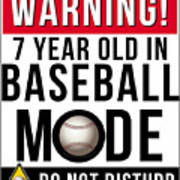 7 Year Old In Baseball Mode Poster