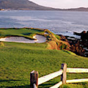 7th Hole At Pebble Beach Golf Links Poster
