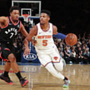 Toronto Raptors V New York Knicks Poster