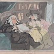 A Counselor's Opinion After He Had Retired From Practice After Thomas Rowlandson British, London 17 Poster