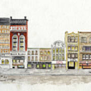 A Greenwich Village Streetscape Poster