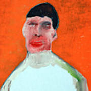 A Man With An Orange Background Poster