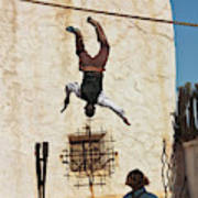 A Pair Of Stuntmen Perform At Old Tucson Poster