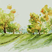 A Simple Landscape Poster