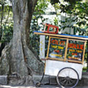 A Street Food Vendor Selling Fried Poster