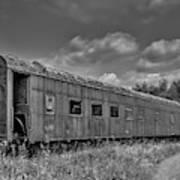 Abandoned Railroad Car In Rural New Brunswick Poster