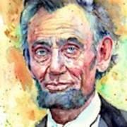 Abraham Lincoln Portrait Poster