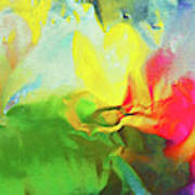 Abstract In Full Bloom Poster