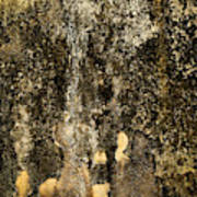 Abstract Scary Ocher Plaster Poster