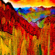 Abstract Scenic 3 Poster