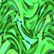 Abstract Waves Painting 0010075 Poster