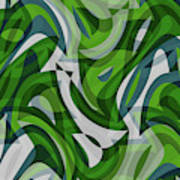 Abstract Waves Painting 0010087 Poster