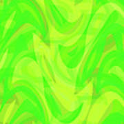 Abstract Waves Painting 0010099 Poster