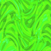 Abstract Waves Painting 0010106 Poster