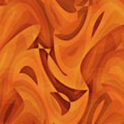Abstract Waves Painting 001451 Poster