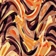 Abstract Waves Painting 007187 Poster