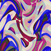 Abstract Waves Painting 007199 Poster