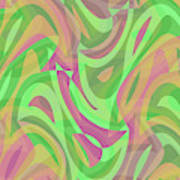 Abstract Waves Painting 007214 Poster