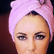 Actress Elizabeth Taylor Poses Poster