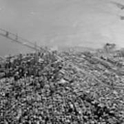 Aerial View Of Downtown San Francisco From The Air Poster