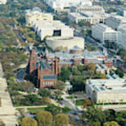 Aerial View Of Museums On The South Side Of The National Mall In Poster
