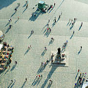 Aerial View Of  Neumarkt Square In Poster