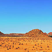African Desert Panorama Poster