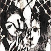 After Mikhail Larionov Black Oil Painting 14 Poster