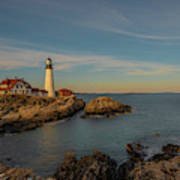 Afternoon Sun Over Portland Head Light Poster