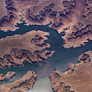 Air View Of Lake Powell Poster