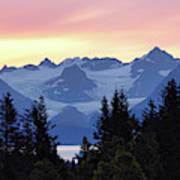 Alaska's Kenai Mountains At Dawn Poster