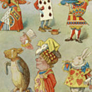 Alice In Wonderland Characters Poster