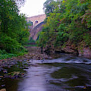 Along The Wissahickon At The Henry Avenue Bridge Poster
