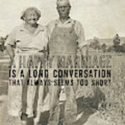 American Gothic Quote Poster