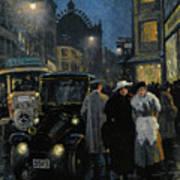 An Evening Stroll On The Boulevard Poster