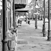 Antique Alley In Black And White Poster