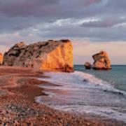 Aphrodite's Birthplace Or Petra Tou Romiou In Cyprus 2 Poster
