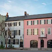 Architectural Photograph Of Rainbow Row On East Bay Street - Charleston South Carolina Poster