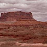 Arizona Red Clay Painted Desert Panoramic View Poster
