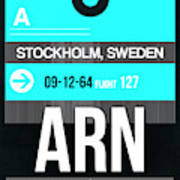 Arn Stockholm Luggage Tag II Poster