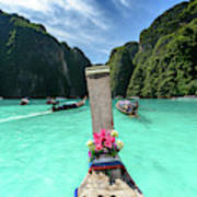 Arriving In Phi Phi Island, Thailand Poster
