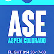 Ase Aspen Luggage Tag II Poster